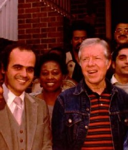 with president carter at his hometown in georgia usa in 1981 مع الرئيس كارتر